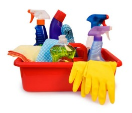 End of lease cleaning tools and chemicals